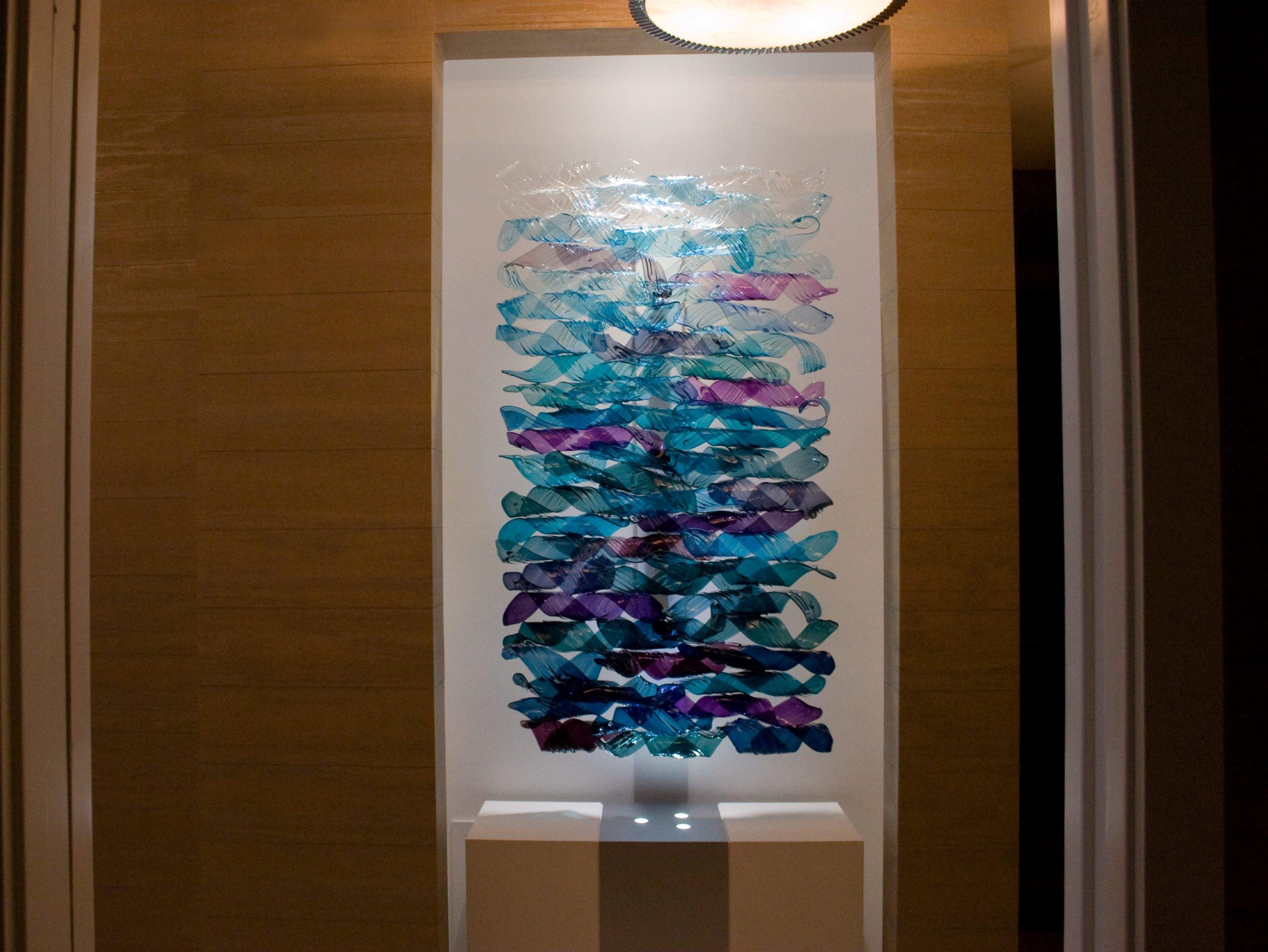Violet Aqua Water Wall